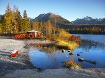 Jesień jeziora sceneria Fotografia Royalty Free
