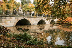 Jesień, jezioro, drzewa Obrazy Royalty Free