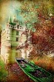 Jesień kasztel Obraz Stock