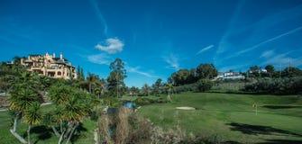 jesień kolorów pola flaga golfa piaska drzewa Obraz Stock
