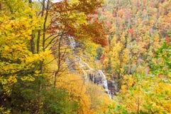Jesień kolor i siklawa, NC Fotografia Royalty Free