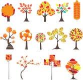 jesień kolorowy ilustracyjny drzewa wektor Zdjęcia Royalty Free