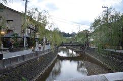 Jesień koloru zmiana Japonia przy Kinosaki onsen Fotografia Stock
