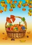 Jesień kosz wektor ilustracja wektor