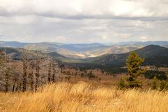 Jesień krajobraz obrazy royalty free