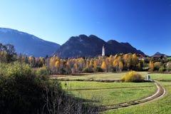 Jesień krajobraz przy Pfronten zdjęcie stock