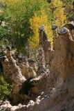 Jesień krajobraz Rockowej formaci ` s Czarci miasteczko w Radan górze, Serbia Zdjęcie Stock
