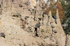 Jesień krajobraz Rockowej formaci ` s Czarci miasteczko w Radan górze, Serbia Obrazy Stock