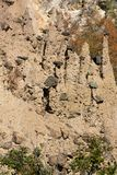 Jesień krajobraz Rockowej formaci ` s Czarci miasteczko w Radan górze, Serbia Obraz Stock
