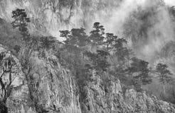 Jesień krajobraz w Cernei górach Obraz Royalty Free