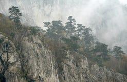 Jesień krajobraz w Cernei górach Fotografia Stock