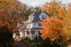 jesień kraju dom Obrazy Royalty Free