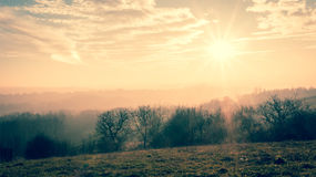 Jesień kraju krajobraz Fotografia Royalty Free