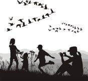 jesień kraju rodzina Ilustracja Wektor