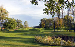 jesień kursu golfa deszcz Fotografia Royalty Free