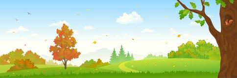 Jesień lasu sztandar Zdjęcie Stock