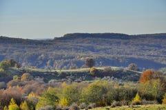 Jesień lasu wzgórza Fotografia Royalty Free