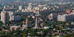 jesień miasta panoramiczny Saratov widok Fotografia Stock