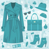 jesień mody set royalty ilustracja