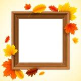 Jesień obrazka rama Obrazy Royalty Free