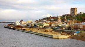 Jesień panoramiczny widok Nizhny Novgorod Obraz Stock