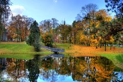 jesień park Obrazy Stock