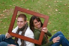 jesień pary Zdjęcia Royalty Free