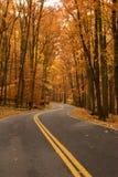 jesień pasa ruchu droga dwa Zdjęcia Stock