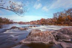 jesień pogoda krajobrazowa rzeczna pogodna Fotografia Royalty Free