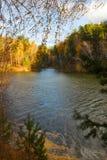 jesień pogoda krajobrazowa rzeczna pogodna Obrazy Royalty Free