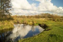 jesień pogoda krajobrazowa rzeczna pogodna Zdjęcia Stock