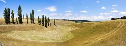 jesień pola krajobraz panoramiczny Zdjęcia Royalty Free