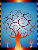 jesień pomarańcze drzewa Zdjęcia Royalty Free
