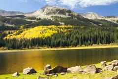 Jesień przy Przegranym jeziorem, Kolorado Zdjęcia Stock