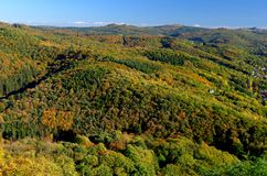 Jesień przy Siebengebirge zdjęcia stock