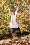jesień radość Obrazy Royalty Free