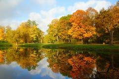 Jesień ranek Zdjęcia Royalty Free