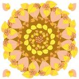 Jesień round wzór Fotografia Royalty Free