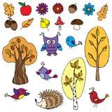 Jesień set Ilustracji