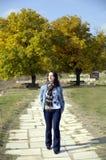 jesień spacer Zdjęcia Royalty Free