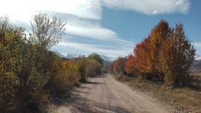 Jesień spacer w Bokonbayevo w Kyrgzystan fotografia royalty free