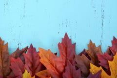 Jesień spadku Nieociosany Drewniany tło Obraz Royalty Free