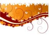 jesień sztandaru motyle Zdjęcia Stock