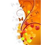 jesień sztandaru motyle Fotografia Stock