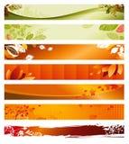 jesień sztandary ustawiający Zdjęcie Royalty Free