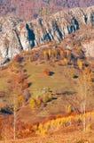 jesień w dalekim halnym miejscu Zdjęcia Royalty Free
