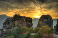 Jesień w Meteor, Grecja - monasteru St Barlaam Obraz Royalty Free