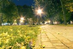 Jesień w miasto parku Fotografia Royalty Free