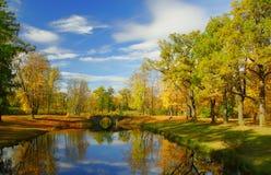 Jesień w parku Fotografia Royalty Free
