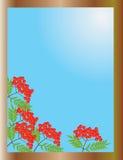 jesień widok okno ilustracja wektor